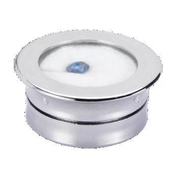 Gem Stone Display Box Round Plastic