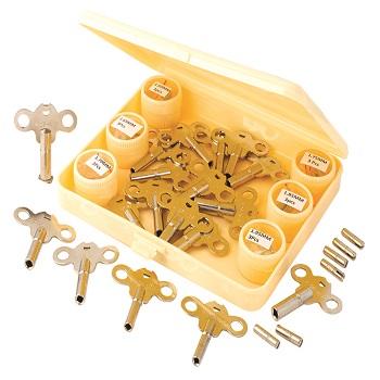 Clock Key Assortment Set of 36 in Plastic Box