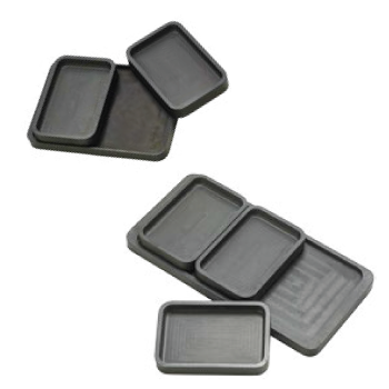 Matt Black Stackable Aluminium Trays for Diamond Setting