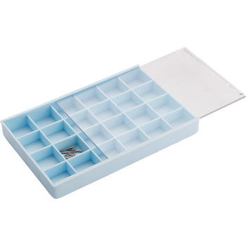 Box Plastic with 24 compartments Blue