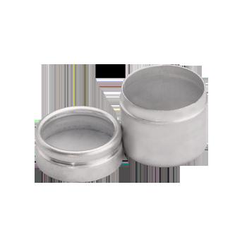 Round Alluminium Tin Glass Top #1