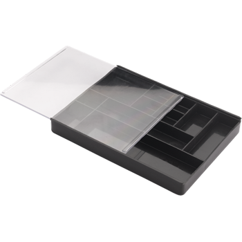 Box Plastic with 11 compartments of different sizes